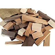 Wooden Blocks, 5 Pounds of Premium Hardwood in Assorted Sizes, Natural
