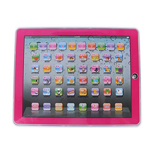 Fdit Lerncomputer Laptop elektronisches pädagogisch Kinder Tablet für Baby Kinder zu Lernaktivitäten für Buchstaben Wörter Zahlen oder Kleinkinder(Rosa)