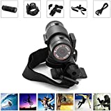 Full HD 1080P Mini Waterproof Sport DV Camera 120 Degree Wide Angle Action DVR Video Camcorders for Bike/Bicycle Helmet and Car Use