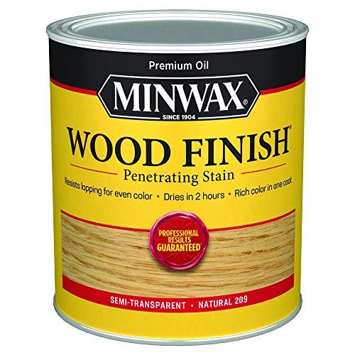 Minwax 70000444 Wood Finish Penetrating  Stain, quart, Natural