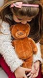 BÄRENMARKE Teddybär - braun, 26cm | Knuddelbär, Teddy klein zum Kuscheln & Einschlafen | Stofftier, Kuscheltier für Kleinkinder ab 3 Jahren