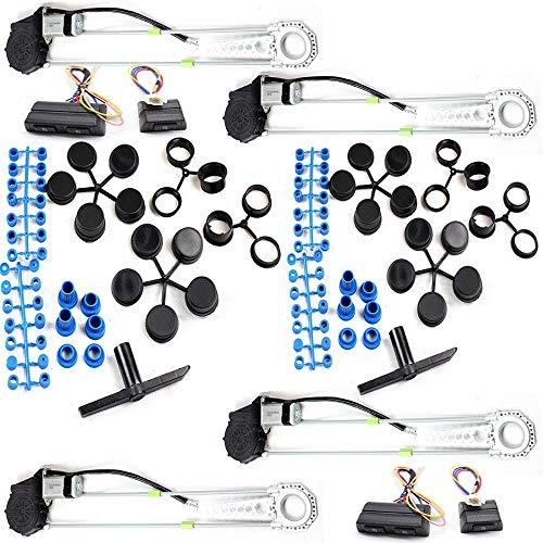 OUBAYLEW - Kit de interruptores de conversión para ventanilla de Coche eléctrico Universal de 4 Puertas