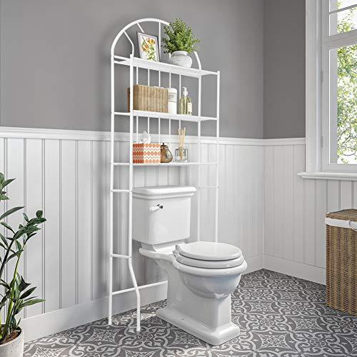 Greensen Bad Regal Toilettenregal Weiß Regal Metal Regale Waschmaschine Regal für Badezimmer 3-Tier WC Regal Lagerregal Multifunktional Allzweckregal Ideal für WC und Bad