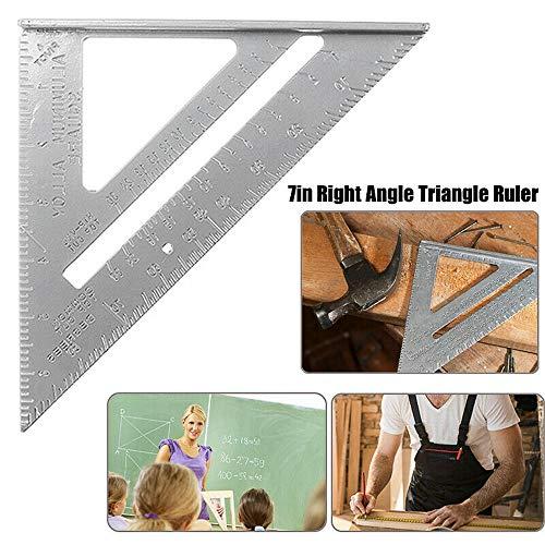 MZY1188 Righello a Triangolo in Lega di Alluminio da 7 '' 0-90 °, Strumento di misurazione ad Alta precisione con quadrante di velocità del Righello metrico per Ingegnere Carpentiere