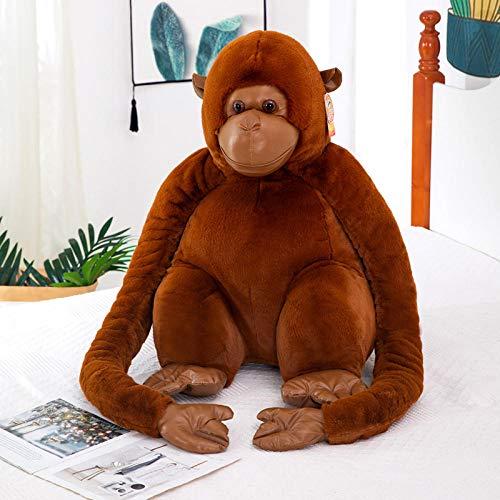 Silence 25-110 Cm Cartoon Orangutan Plush Toy Naughty Gorilla Doll Long Arm Monkey Doll-Brown_25Cm
