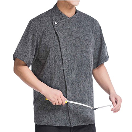 Camisa de Cocinero Manga Corta Lino