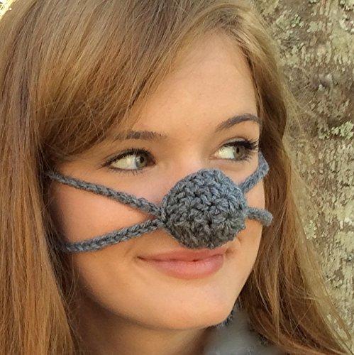 Dark Gray Aunt Marty's Original Nose Warmer