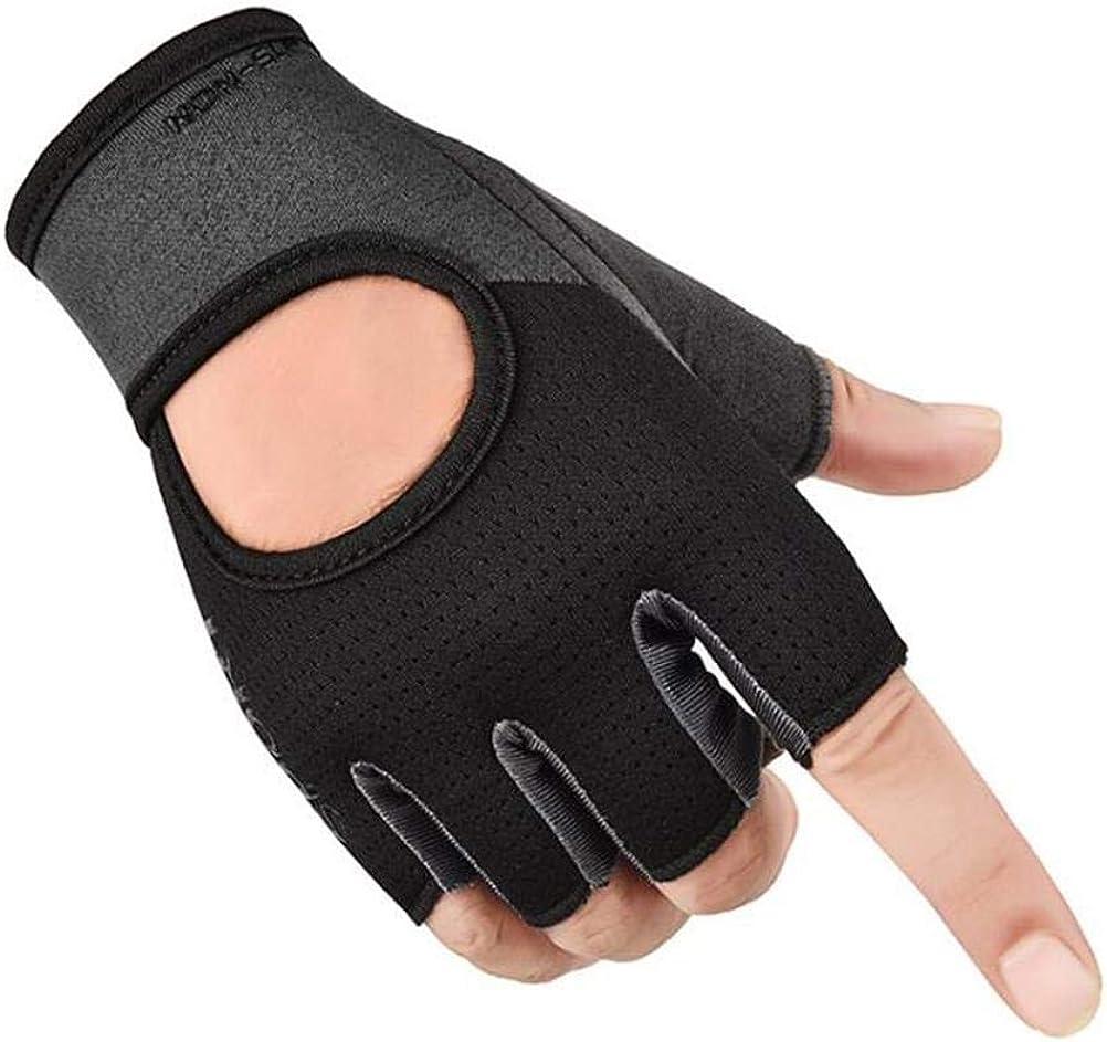 Unisex Half Finger Workout Gloves Weight Lifting Gloves Breathab