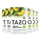 Tazo Organic Peachy Green Tea Bags For a Refreshing Cup of Tea Green Tea Moderate Caffeinated Tea 20 ct, Pack of 6