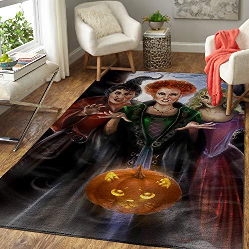 oHome Design Sanderson Sisters Hocus Pocus Tapis de salon pour Halloween