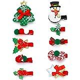 Unicra Weihnachts-Haarspangen Elch Baby Kleinkind Schleife Haarspangen Tier Weihnachten Haarteile Zubehör Geschenke Sets für Mädchen