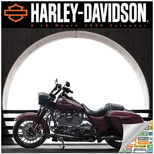 Harley Davidson Motorcycles Calendar 2020 Set - Deluxe 2020 Harley-Davidson Mini Calendar with Over 100 Calendar Stickers (HD Harley Davidson Gifts, Office Supplies)