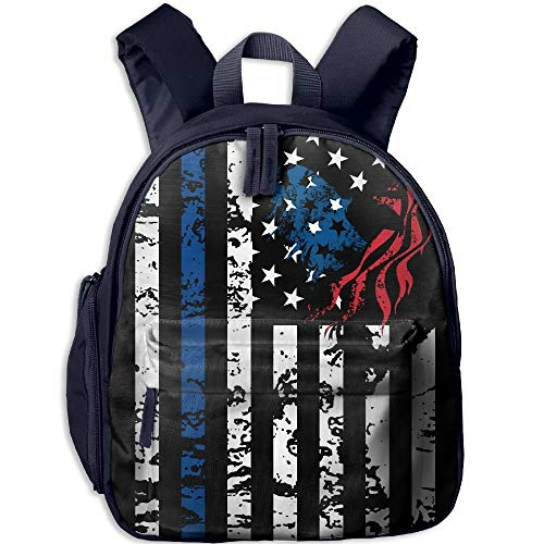 Yuanmeiju Shark Blue Flag Student School Bags Feet Super Bookbag