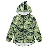 Oeillet d'ne Toddler Boys Dinosaur Hoodies Animal Zipper Jacket Cartoon Sweatshirt for Kids (Camouflage, 7_years)