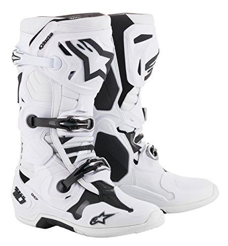 Alpinestars Motocross-Stiefel Tech 10 Weiß Gr. 44.5