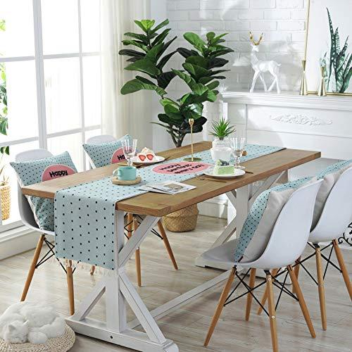 Jhtadva Moderne eettafel, modern design, tv-kast, tafelloper
