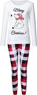 Christmas Parent-Child Children's Cartoon Snowman Print Shirt T-Shirt + Plaid Printed Pants Home Service Suit (1-12 Years)