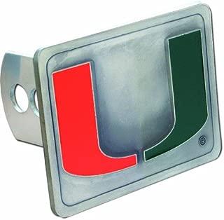 Siskiyou NCAA Miami Hurricanes Trailer Hitch Cover, Class III