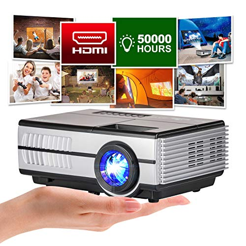 Mini Poortable Projector, 3000lumen LCD LED Projector Home Cinema HD 1080P Support Digital TV Proyector Built-in Speaker Compatible with TV Stick DVD Xbox Playstation for Kids Cartoon Drawing Party
