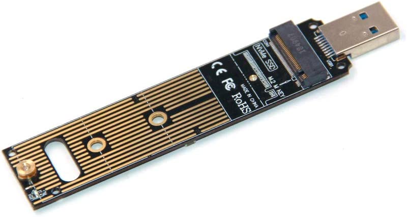 USB 3.1 Type-A Card 10 Gbps NVME Reader Support Windows XP//7//8//10 M.2 NVME USB Adapter,Support 2230 2242 2260 2280 M-Key M.2 SSD No Cable Needed