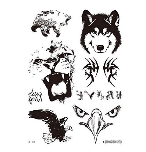 5 Unids Tatuaje Temporal Pegatinas Decoración Del Partido Arte Corporal Grande Grande Etiqueta Engomada Del Tatuaje Falso Tatuajes Temporales-A3