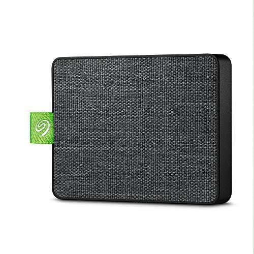 Seagate Ultra Touch SSD, tragbare externe SSD, 500 GB, 2.5 Zoll, USB 3.0, PC & Mac, schwarz, inkl. 3 Jahre Rescue Service, Modellnr.: STJW500401