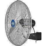 """Global Industrial Deluxe Oscillating Wall Mount Fan, 24"""" Diameter, 1/2HP, 8,650CFM"""