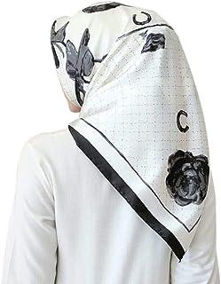 Life Q Faux Silk Smoothy Floral Muslim Women Scarf 90 * 90cm Square Head Hair Wrap Tudung Satin