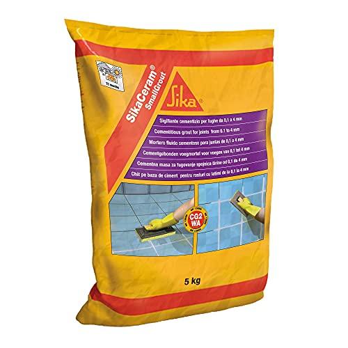 SikaCeram SmallGrout, Lechada de cemento para relleno de juntas de 0 a 4 mm (CG2), 5kg, Blanco
