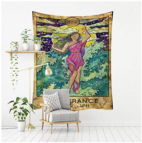 Tapiz psicodélico serie de cartas de tarot impreso hogar colgante de pared decoración del hogar tela de fondo
