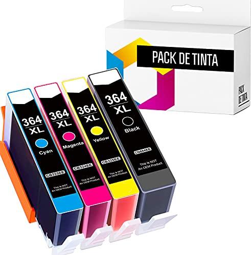 TONERPACK Reemplazos Compatibles para HP 364 364XL Cartuchos de Tinta para HP Photosmart 5520 6520 5510 6510 7510 7520 HP Deskjet 3070A 3520 HP Officejet 4620 4622 (Pack 4)