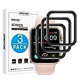 OMOTON [3 Pezzi Pellicola Protettiva in Plastica Compatibile con Apple Watch 44mm Serie 4/5 Protezione Schermo Anti-Graffi Sensitive Touch Senza Bolle Facile Applicazione -Alta Trasparenza
