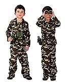 Traje militar - asalto de camuflaje - disfraces para niños - halloween - carnaval - soldado - ejército - color marrón - niño - talla xl - 10/11 años - idea de regalo original
