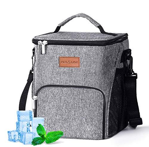 NASUM Kühltasche 10L klein Kühlbox faltbar Lunchtasche Mittagessen Tasche Thermotasche Isoliertasche Picknicktasche für Lebensmitteltransport Arbeit Picknick 10L