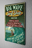 [ZUNYI]ブリキ イラスト Professional Guild Surf shop ブリキ 看板 アイデアデコレーション [20x30cm]