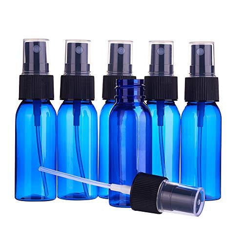 BENECREAT 24 Pack Bouteilles de pulvérisation d'atomiseur à Brume Fine de 30 ML Bleu vides en Plastique Bouteille de Voyage Ensemble pour Articles de Toilette cosmétiques huiles essentielles