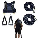 Résistance à l'entraînement du harnais traîneau, gilet corde résistance au fitness, bande d'entraînement et conception sangle tirage, traction à 45 livres corde simple, amélioration vitesse et force