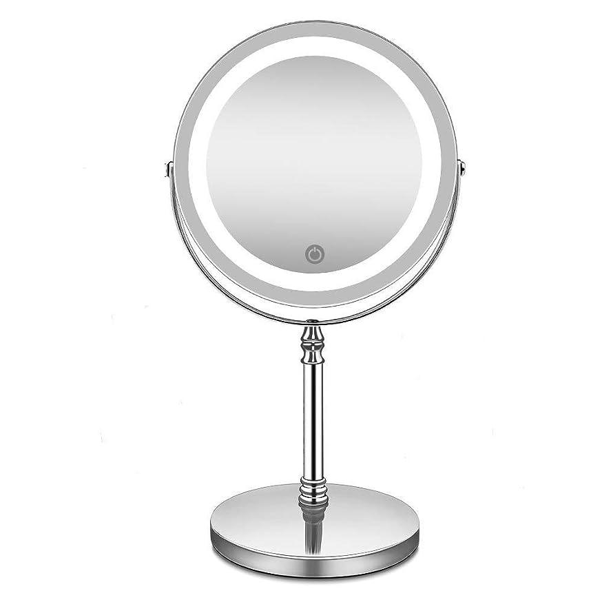 蜜つま先後者ライトと拡大鏡を備えた化粧鏡は、10倍の拡大バッテリーを備えた照明付きのバスルーム化粧鏡を主導しました,7pollici10volte