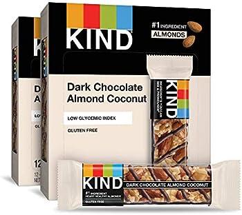 24-Count Kind Dark Chocolate Almond Coconut, Gluten Free