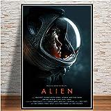 Affiche Imprime Alien 1979 Film Sci FI Horreur Film Cadeau Vintage Peinture À l'huile Toile Art Mur Photos pour Salon Décoration 50 × 70 Cm sans Cadre