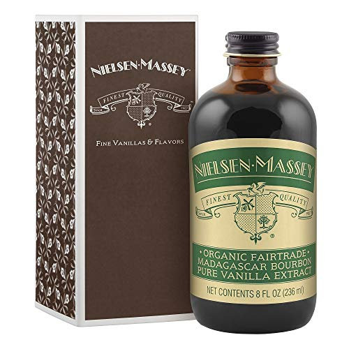 Nielsen-Massey Organic Fairtrade Madagascar Bourbon Pure Vanilla Extract, with Gift Box, 8 ounces