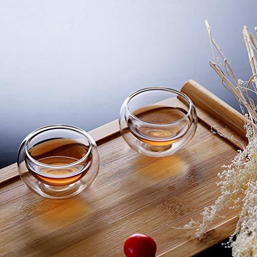 Erjialiu 50Ml Dubbele Muur Glas Heldere Koffie Mok Theekopjes Hittebestendige Gezond Drink Mok Bier Wijn Cups Geschenken