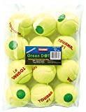 Tourna Green Dot Low Compression Tennis Balls, 12 pack