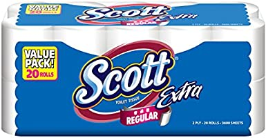 Scott Extra Bath Tissue, 180ct (Pack of 20)