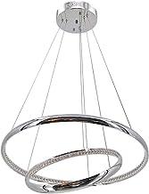 云TAOBeautiful Lighting City/Modern Led Crystal Pendant Chandelier,Stainless Steel with Led Lamp Living Room Bedroom Crista...