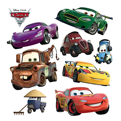 AG Design Disney Cars Kinderzimmer Wand Sticker, PVC-Folie (Phtalate-Free), Mehrfarbig, 30 x 30 cm