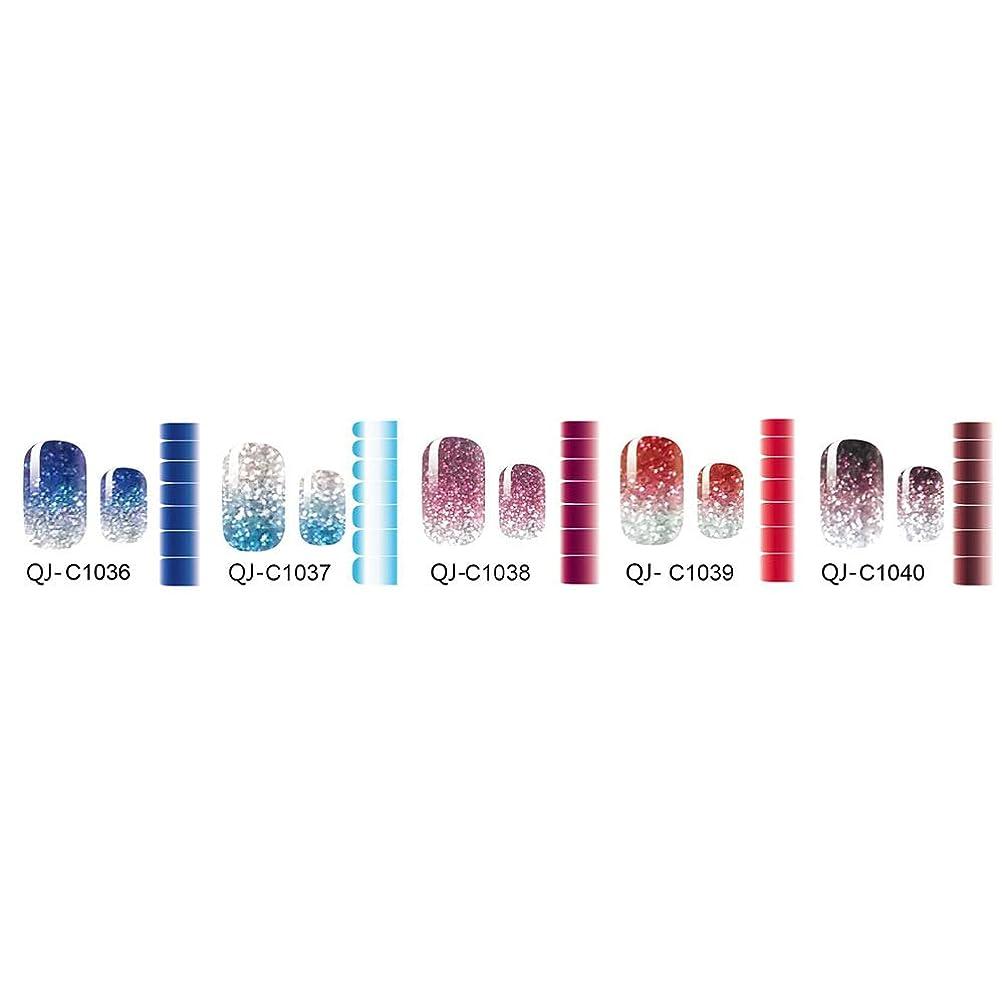 マーベル蓋コンサルタントBeaupretty 5枚フルネイルアートポーランドステッカーシニーグリッターデザインネイルポリッシュラップストリップ用女性女の子