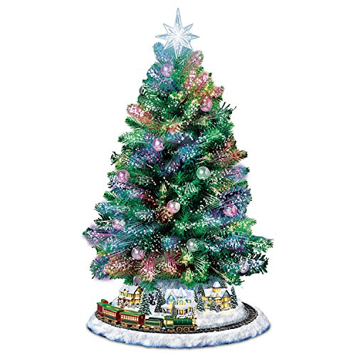 Fiber Optic Tabletop Tree With Enchanting Christmas Village