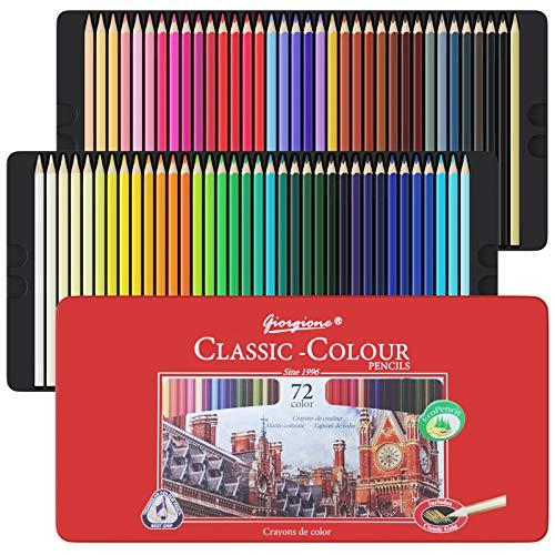 72 Buntstifte Set, Art Supplies Ausmalstifte für Erwachsene, Professionelle Buntstifte für Künstler, Anfänger, Erwachsene und Kinder, ideal für Kreatives Malen