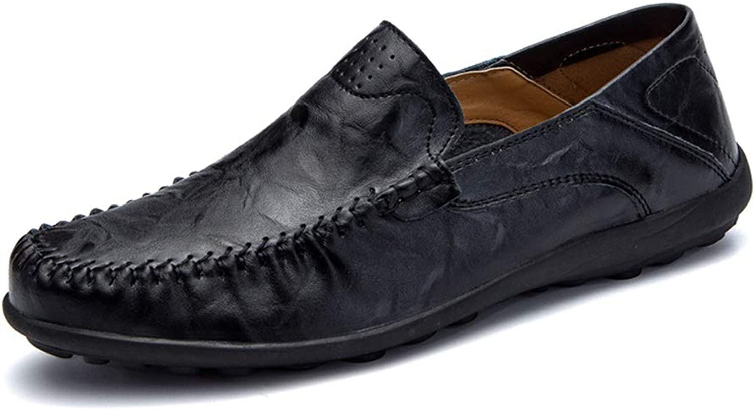 Men's Casual shoes, Spring Fall Loafers & SlipOns,Large Size Men Single shoes, Business Driving shoes Lazy shoes (color   B, Size   39)